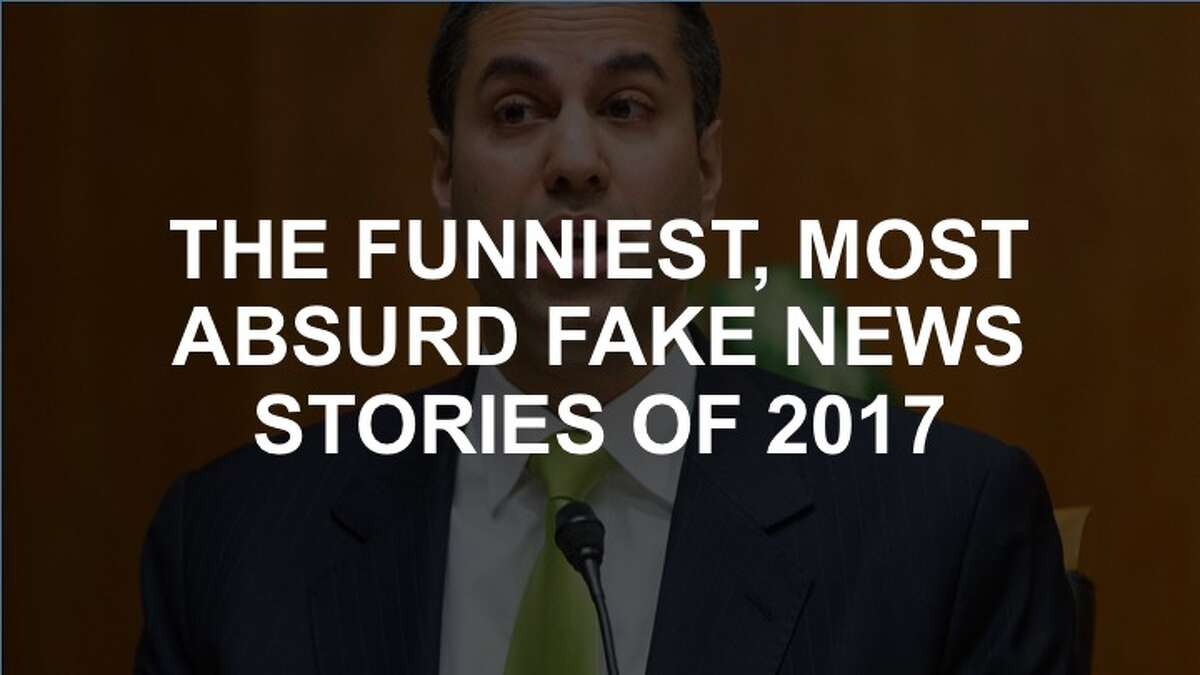 Click through the slideshow to see some of the most outrageous and outlandish fake news stories of 2017.