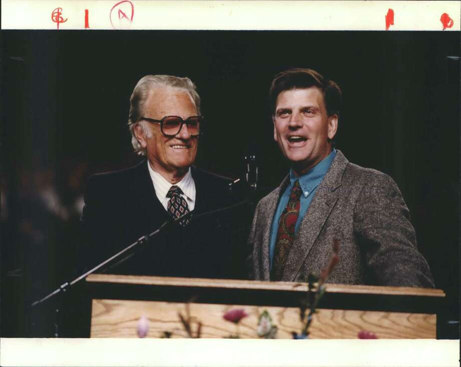 Evangelist Billy Graham, left, was snookered by Richard Nixon. It now appears his son, preacher Franklin Graham, right, has been taken in by Trump — allowing the president's moral lapses to be ignored. Photo: Russ Busby / / Houston Chronicle