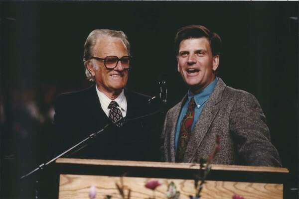 Evangelist Billy Graham, left, was snookered by Richard Nixon. It now appears his son, preacher Franklin Graham, right, has been taken in by Trump — allowing the president's moral lapses to be ignored.