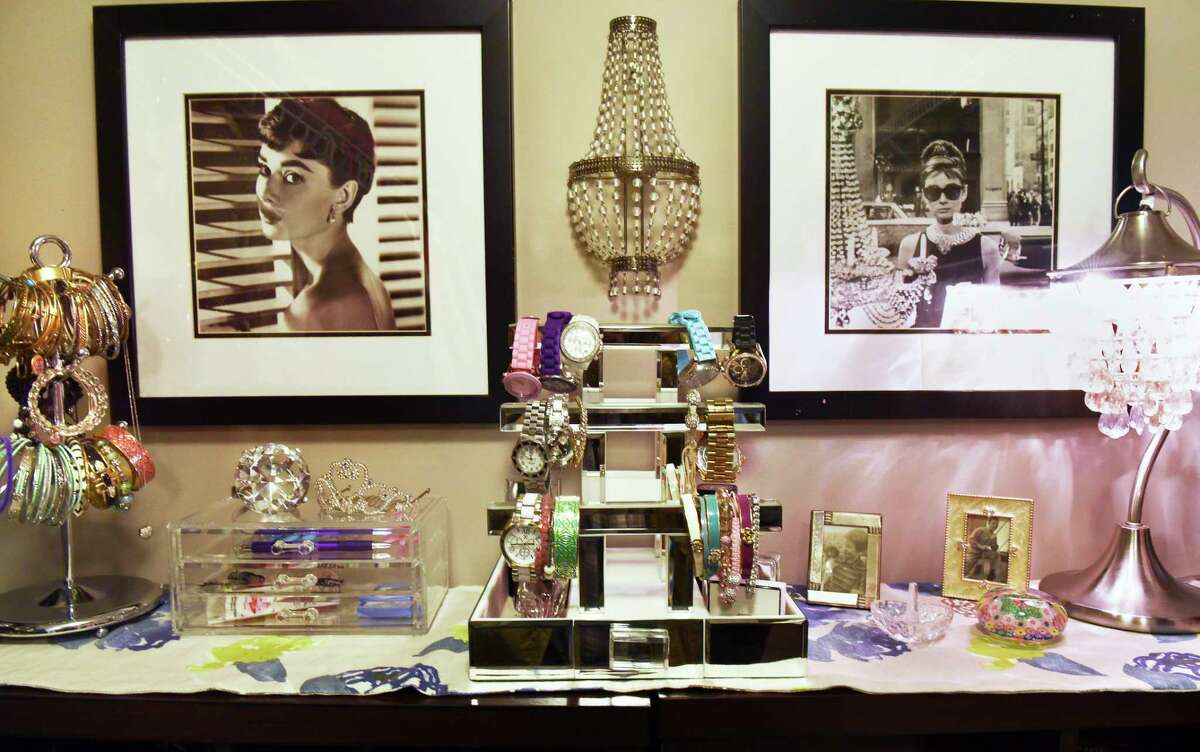 """Detail from the walk-in """"Her Closet"""" at Jennifer Fortune's home Wednesday Nov. 15, 2017 in Ballston Lake, NY. (John Carl D'Annibale / Times Union)"""