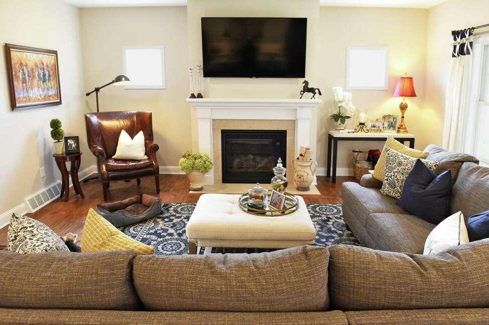Living room at Jennifer Fortune's home Wednesday Nov. 15, 2017 in Ballston Lake, NY. (John Carl D'Annibale / Times Union)