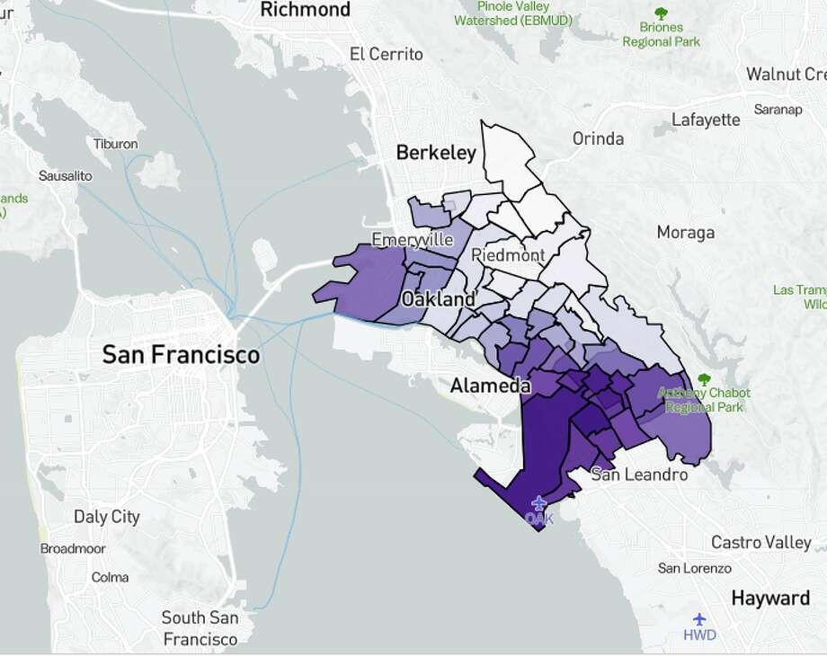 Oakland Zoning Map Maps show the segregation within Bay Area school districts   SFGate