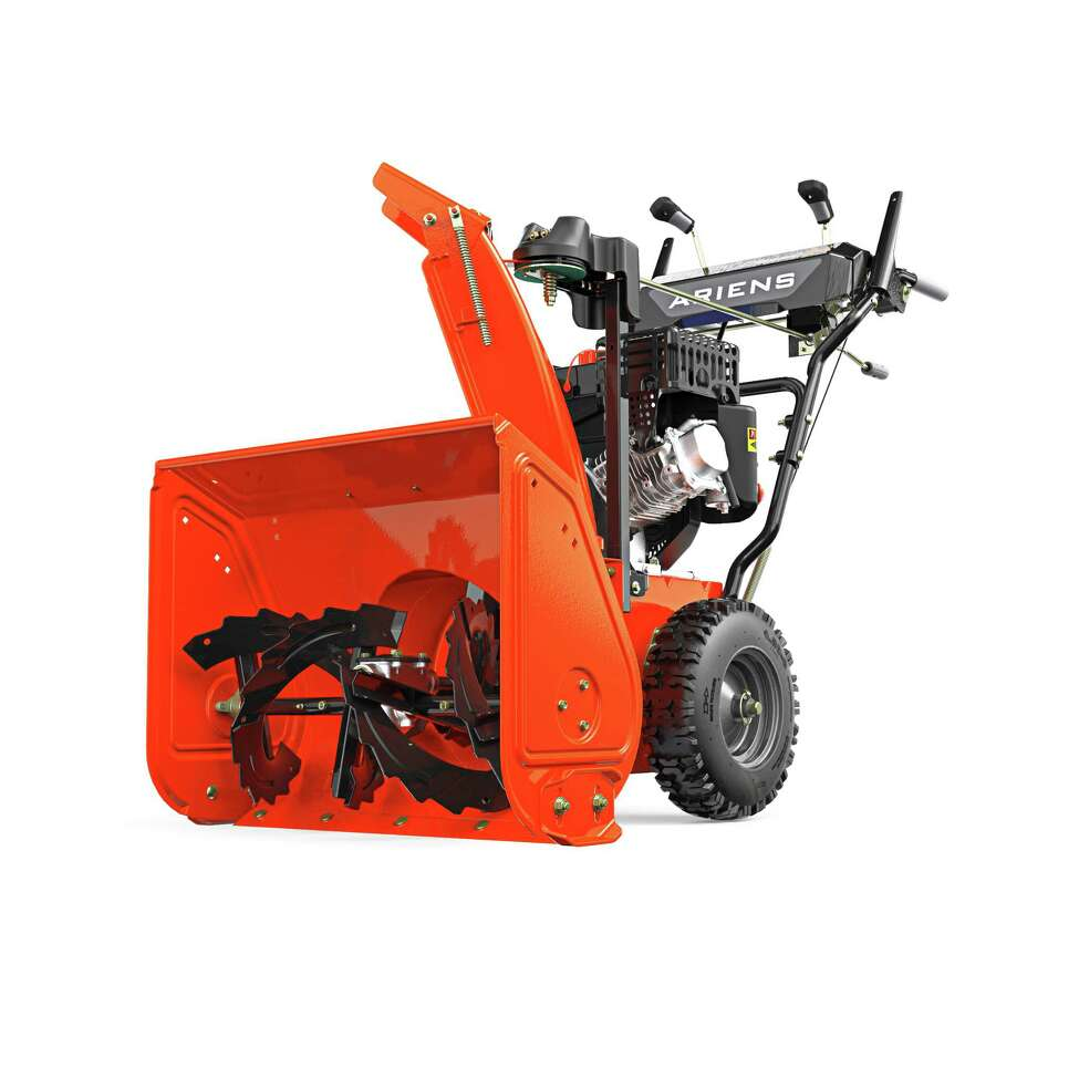 If you have more than a walkway and a stretch of sidewalk to clear of snow, a snowblower is nice to have. It's an investment, but it beats breaking your back shoveling. Shown here: an Ariens Company
