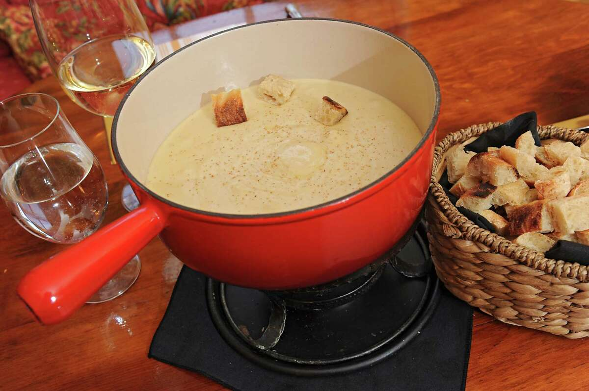 Cheese fondue with bread at Chez Nous on Friday, Jan. 29, 2016 in Schenectady, N.Y. (Lori Van Buren / Times Union)