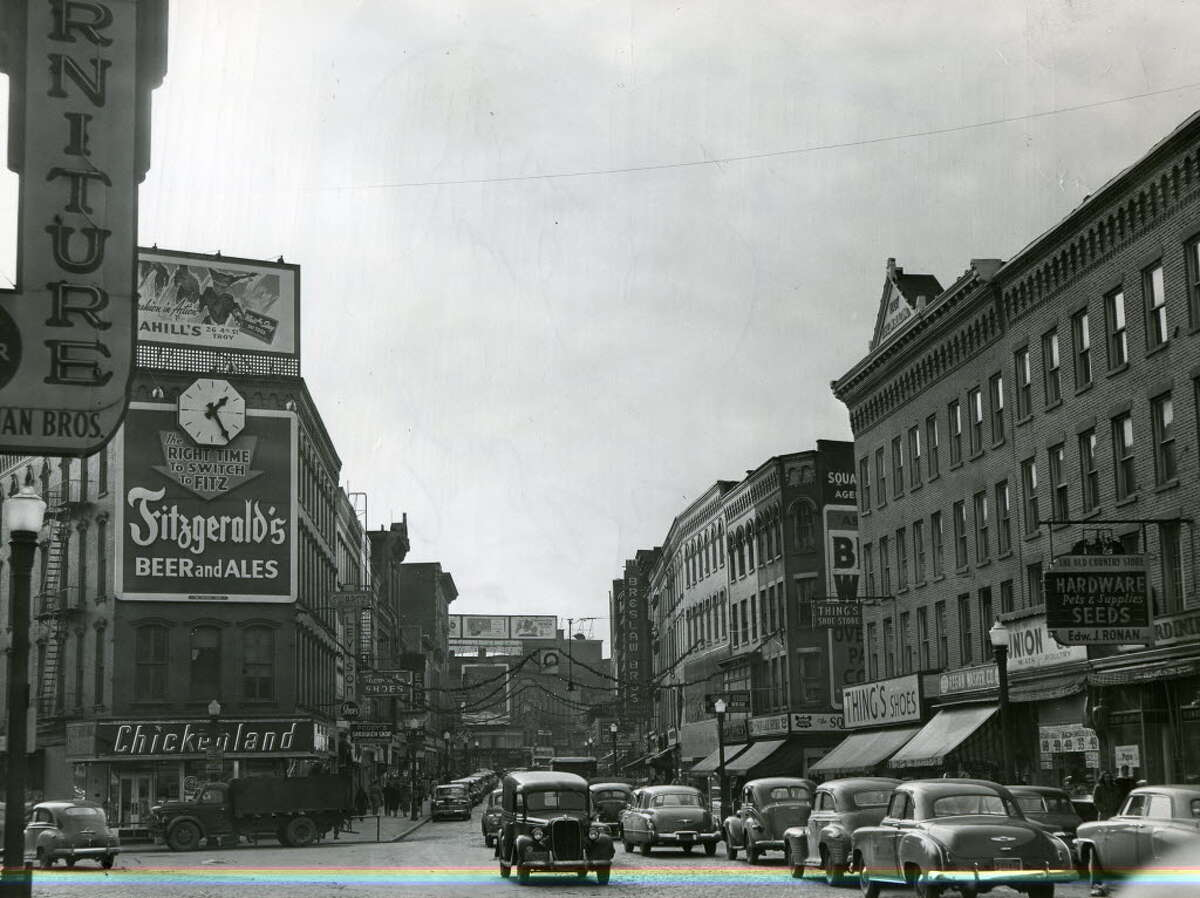 River Street in Troy in 1949 - a view of many chain stores that no longer exist. Keep clicking through the slideshow to see other historical photos of the Collar City.
