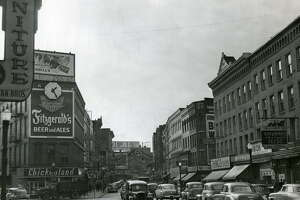 River Street in Troy in 1949 -- a view of many chain stores that no longer exist.