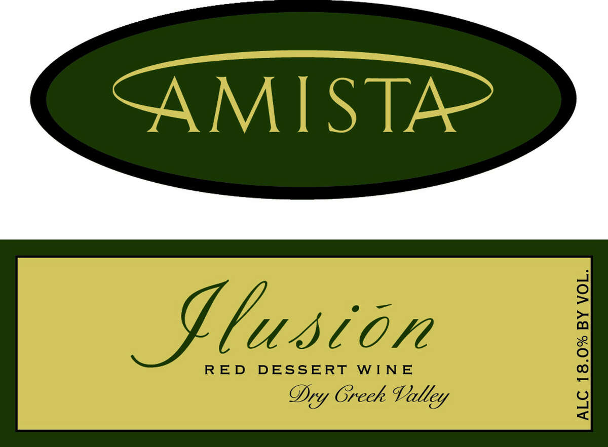 Label for the Amista Vineyards Ilusion sweet red wine. (Provided)