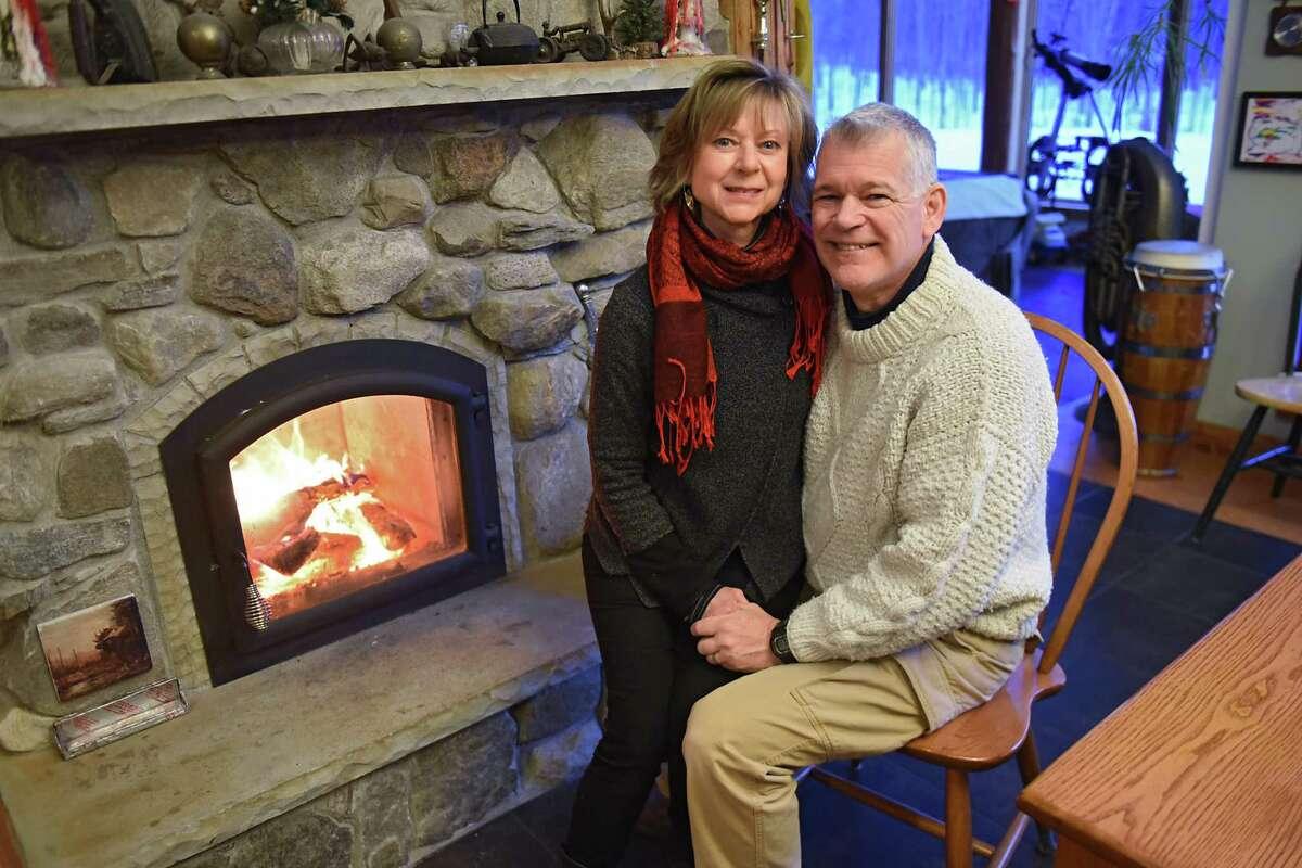 Tom & Roberta Stock sit in their home on Tuesday, Jan. 2, 2018 in Greenfield Center, N.Y. (Lori Van Buren / Times Union)