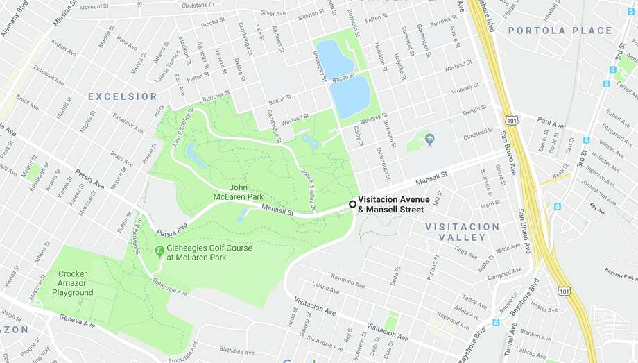 One person died and another was hospitalized with life-threatening injuries Tuesday following a car crash in San Francisco, officials said. Photo: Google Maps
