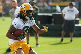GREEN BAY, WI - JULY 28: Green Bay Packers wide receiver Montay Crockett (9) runs drills during Green Bay Packers Training Camp on July 28, 2017 at Ray Nitschke Field in Green Bay, WI. (Photo by Larry Radloff/Icon Sportswire via Getty Images)