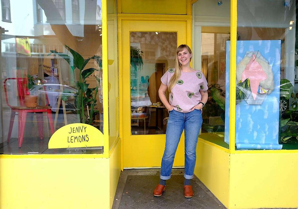 Jennie Lennick at her new San Francisco store, Jenny Lemons.