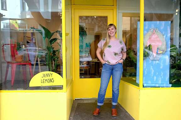Jennie Lennick at her new San Francisco store, Jenny Lemons.