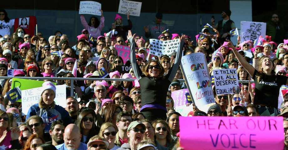 "Thousands of people turn  out Sunday for the ""Power To The Polls"" rally at Sam Boyd Stadium in Las Vegas.   Photo: L.E. BASKOW, Contributor / AFP or licensors"