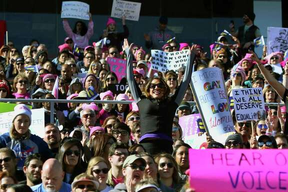 """Thousands of people turn  out Sunday for the """"Power To The Polls"""" rally at Sam Boyd Stadium in Las Vegas."""