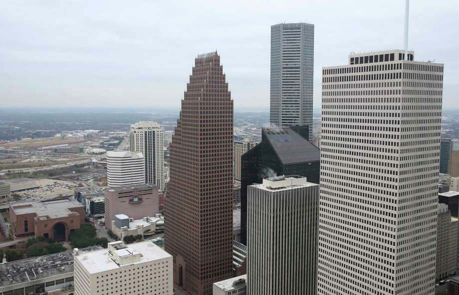 Part of the downtown Houston skyline is seen from the 49th floor of the Heritage Plaza on Wednesday, Jan. 10, 2018, in Houston. ( Yi-Chin Lee / Houston Chronicle ) Photo: Yi-Chin Lee, Houston Chronicle / © 2018  Houston Chronicle