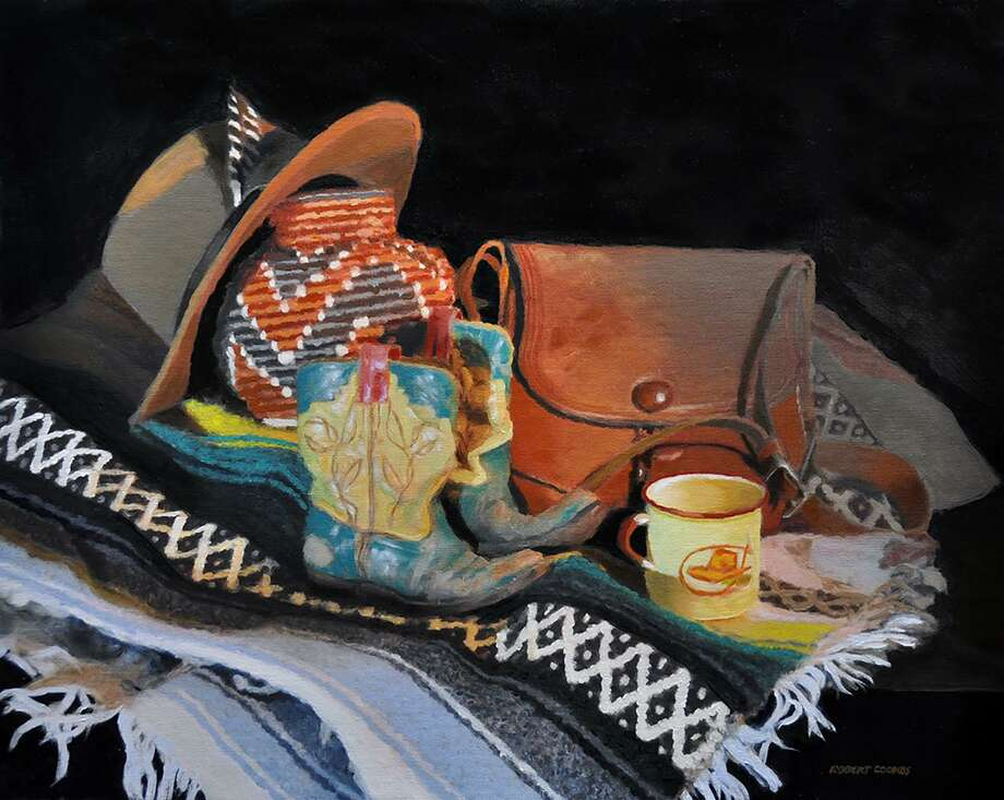 "Paintings by Robert Patrick Coombs are featured in a new show at Sharon Historical Society's gallery, opening Feb. 3. Above, Coombs' painting, ""Little Boots by the Fire."" Photo: Contributed Photo"