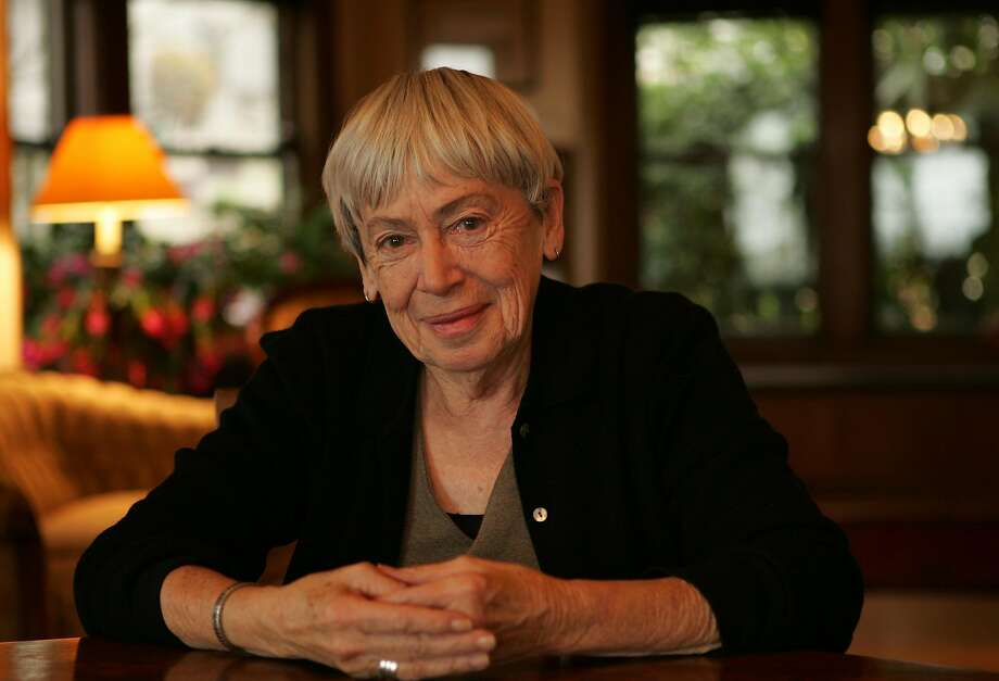 "Ursula K. Le Guin, pictured at her home in Portland, Ore., said at the 2014 National Book Awards: ""Resistance and change often begin in art."" Photo: Getty Images"