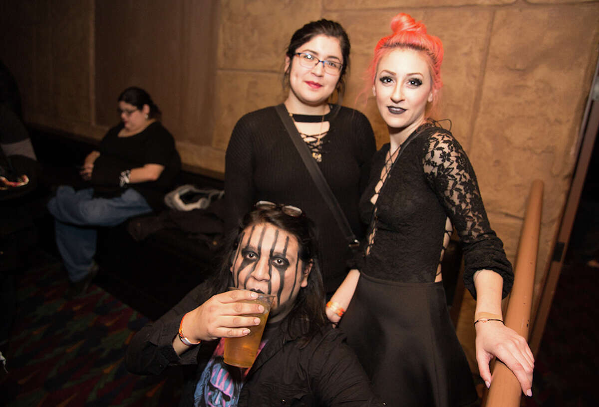 The beautiful people of San Antonio brought their horns, costumes and gothic vibes to Marilyn Manson's show at the Aztec Theatre on Tuesday, Jan. 23, 2018. Manson stopped in the Alamo City for
