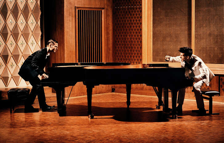 Paul Cibis and Andreas Kern compete against each other in Piano Battle.