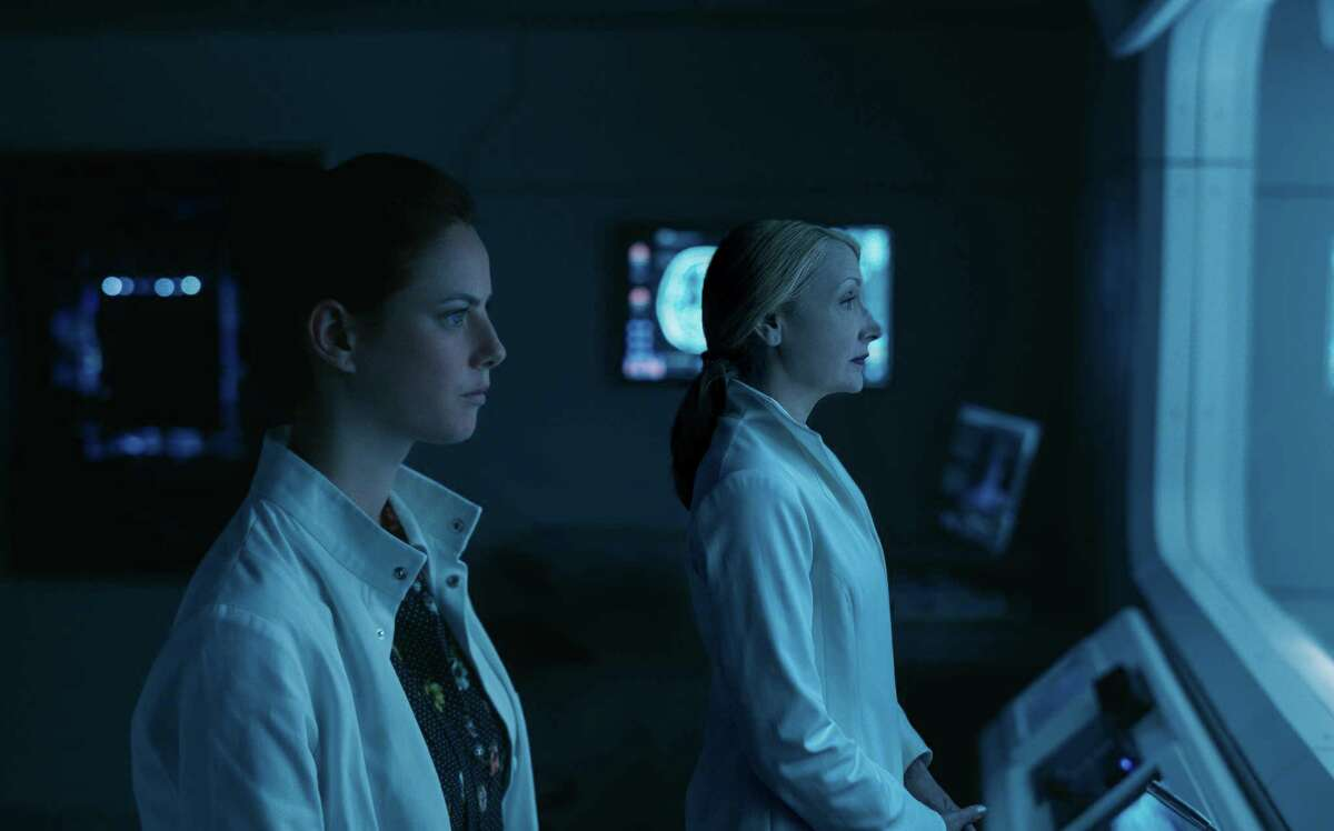 This image released by Twentieth Century Fox shows Kaya Scodelario, left, and Patricia Clarkson in a scene from