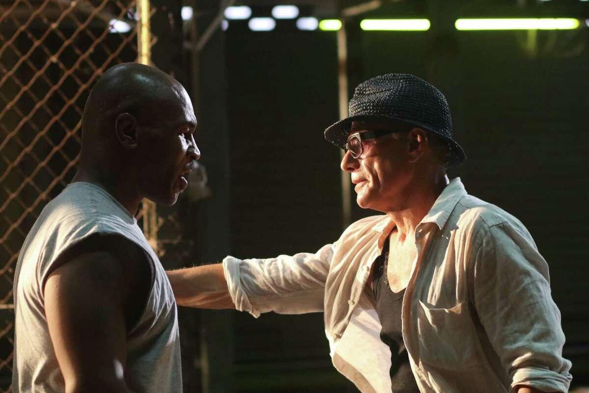 Mike Tyson and Jean-Claude Van Damme in 'Kickboxer: Retaliation