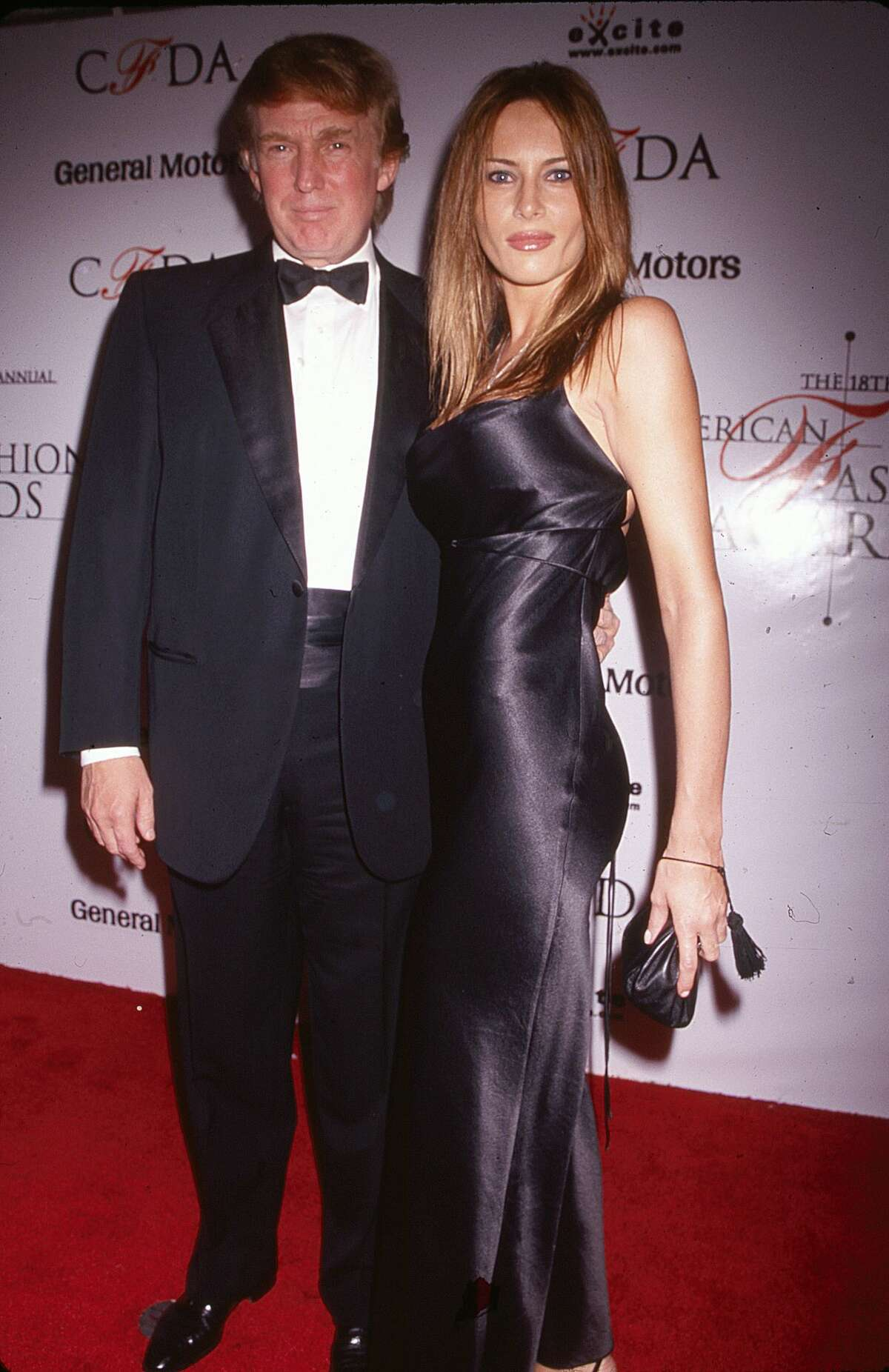 Donald and Melania Trump through the years Donald Trump and Melania Knauss (born Melanija Knavs) as they pose together on the red carpet at the 18th annual Council of Fashion Designers of America (CFDA) awards, New York, New York, June 2, 1999.