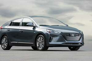 Hyundai's Ioniq plug-in hybrid has an aerodynamic coupe-like body and achieves an impressive 0.24 coefficient of drag.