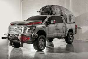 Nissan Star Wars Titan AT-M6: Considering the AT-M6 is the largest vehicle in the First Order's arsenal for Star Wars: The Last Jedi, Nissan fittingly created its show car replica with a Nissan Titan. The Titan is equipped with a massive megacaliber cannon affixed to its back and a custom body wrap reminiscent of the film's massive First Order walker.