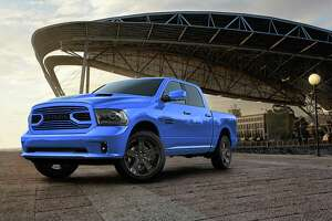 No need to worry about spotting your pickup in a parking lot if it's the new-for-2018 Ram 1500 Sport Hydro Blue. The bold, vibrant blue is contrasted by special grille, black 22-inch wheels, hood stripe and tailgate treatments.