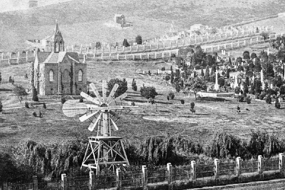 Circa 1865: Dolores Park used to belong to two Jewish cemeteries: Home of Peace (between 18th and 19th Streets) and Hills of Eternity (19th and 20th Streets). Both cemeteries closed in 1888 and moved to Colma, where they keep the same names today. (Photo: OpenSF History) Photo: Courtesy Of OpenSFHistory