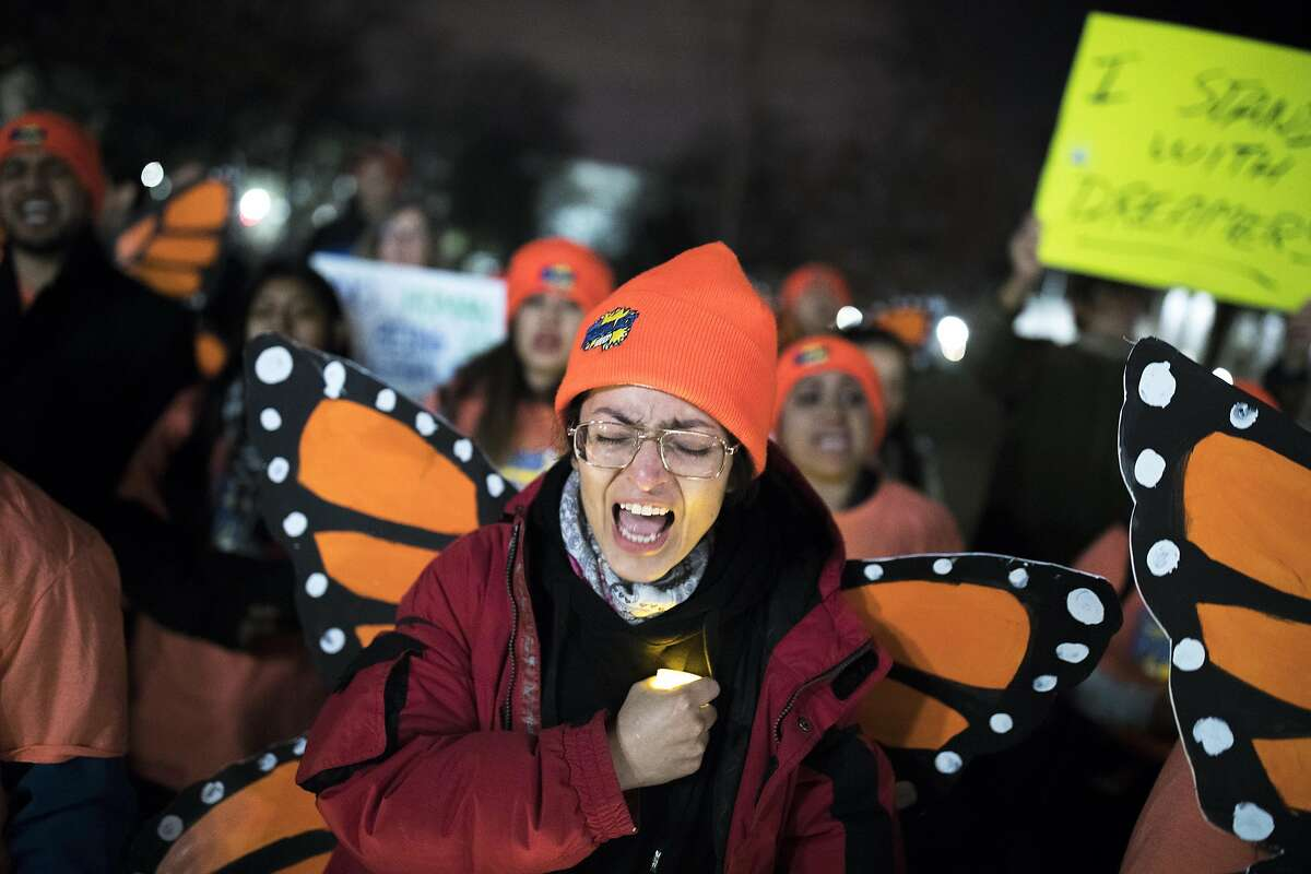 Demonstrators at a rally in support of the Dream Act on Capitol Hill in Washington, Jan. 21, 2018. Democrats had hoped the public would embrace the use of all possible methods, including a government shutdown, to come to the rescue of the young unauthorized immigrants known as the Dreamers. (Tom Brenner/The New York Times)