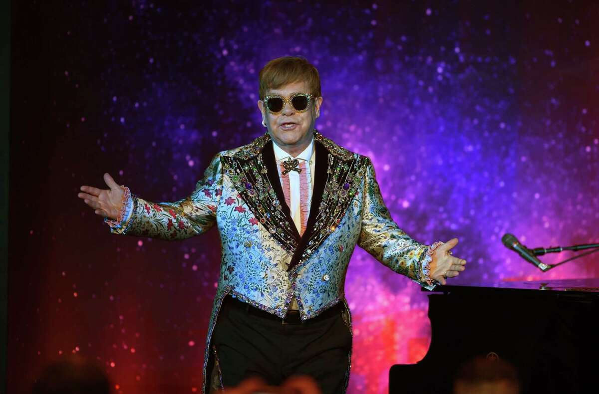 Sir Elton John has a performance of two songs before holding a press conference in New York January 24, 2018. Pop legend Elton John on Wednesday announced a final tour, saying he intends to stop traveling to spend more time with his family. The 70-year-old British entertainer, revealing his plans at a gala New York event, said he planned to