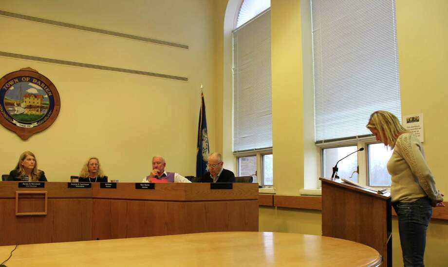 The board of selectmen discuss potential uses for approval on the Ox Ridge property acquired last year at Darien town hall on Jan. 23, 2018. Photo: Humberto J. Rocha / Hearst Connecticut Media / Darien News