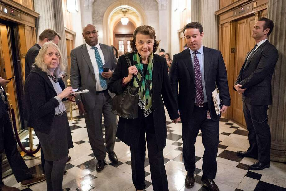 Unlike most Democrats, Sen. Dianne Feinstein voted against the deal to end the government shutdown. Democrats caved after realizing their holdout alienated voters in swing-states. Photo: ERIN SCHAFF, NYT