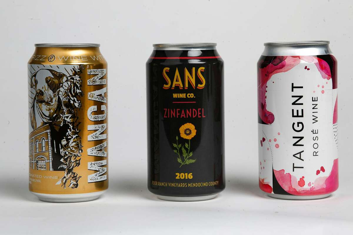 Mancan White Wine with Fizz, Sans Wine Co. 2016 Zinfandel and Tangent Rose Wine.