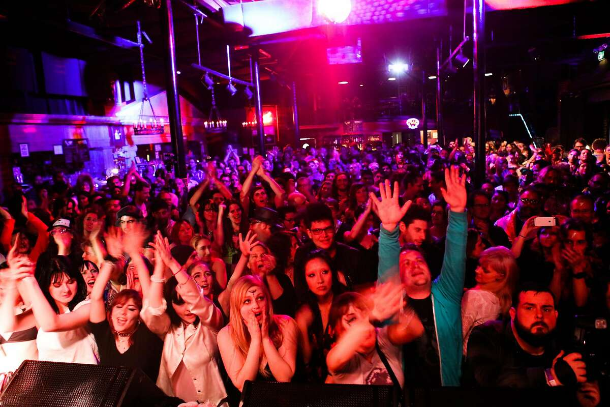 Slim's music venue was jam-packed as The Church of the Sacred Sexualsilver performed a David Bowie tribute concert in San Francisco, California on Wednesday, January 13, 2016.
