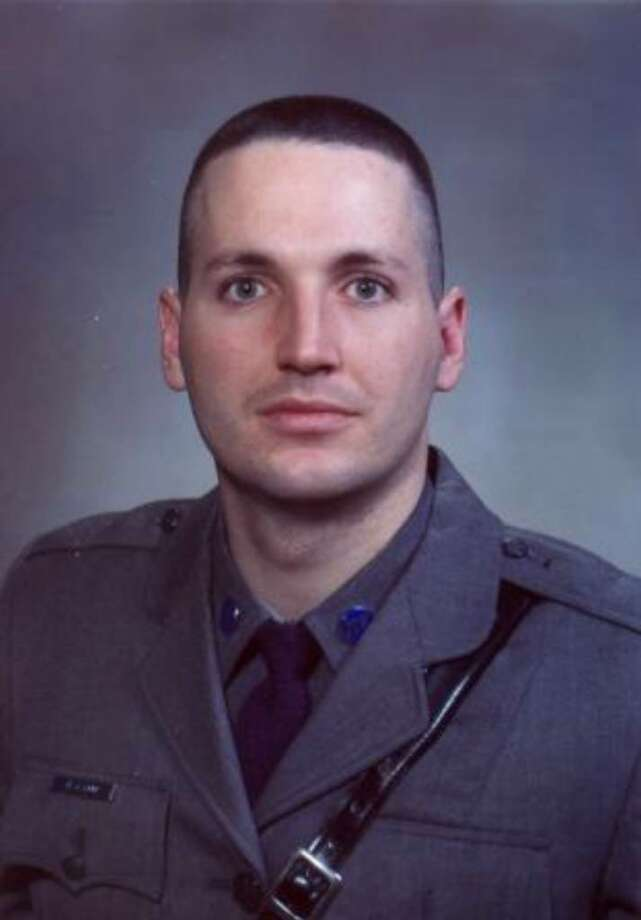 State Trooper David Lane, 30, was killed Nov. 4, 2009, when his patrol car crashed on Route 32 in Catskill. (State Police photo)