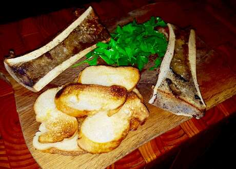 Wood fired bone marrow from Stanziato's in Danbury. Photo: Stanziato's