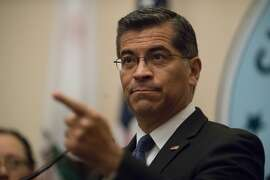 "California Attorney General Xavier Becerra along with San Francisco City Attorney Dennis Herrera announcing new lawsuits against the Trump Administration?'s ""sanctuary jurisdiction"" policies at SF City Hall on Monday, Aug. 14, 2017 in San Francisco, CA."