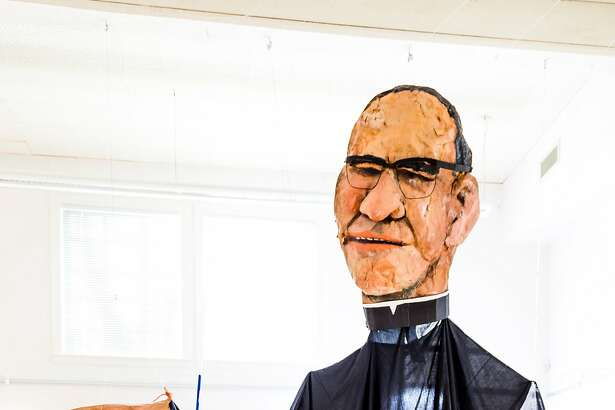 """Archbishop Oscar Romero"""" Papier-m�ch�, paint, and cloth, early 1980s"""""""