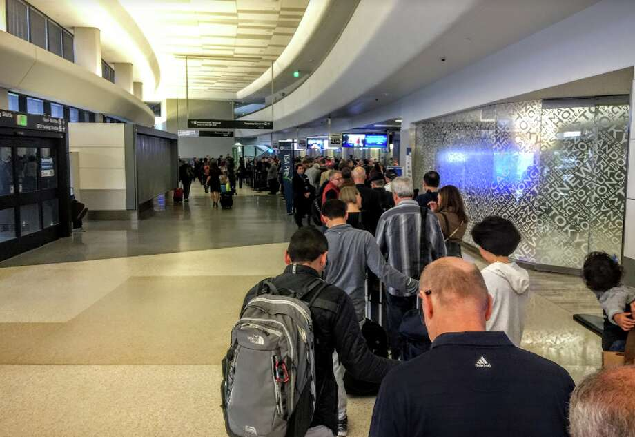 Sometimes, when you least expect it, the PreCheck line at SFO looks like this Photo: Chris McGinnis