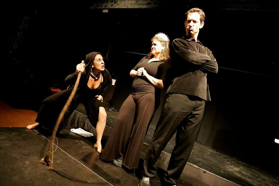 """Hag (Nicole Finis Smith, left), Princess (Sirena Masket) and Prince (Harris Masket) in """"Fine Animal,"""" the first in San Francisco's part of the nationwide """"365 Days/365 Plays."""" Photo: Katy Raddatz, The Chronicle"""
