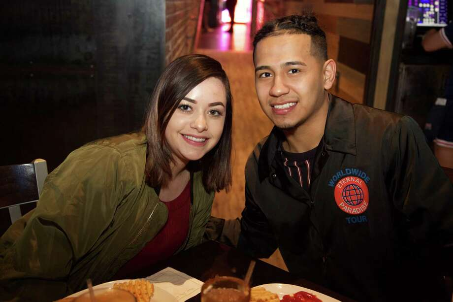 Promise Rios and Darian Lopez are at Walk-On's Bistreaux and Bar. Photo: Xelina Flores /For The Express-News