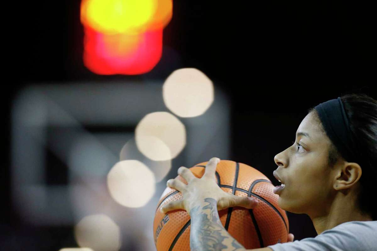 Texas Southern's Joyce Kennerson warms up before action against Arkansas Pine Bluff Monday, Jan. 22, 2018, in Houston. Kennerson is is the country's leading scorer. ( Steve Gonzales / Houston Chronicle )