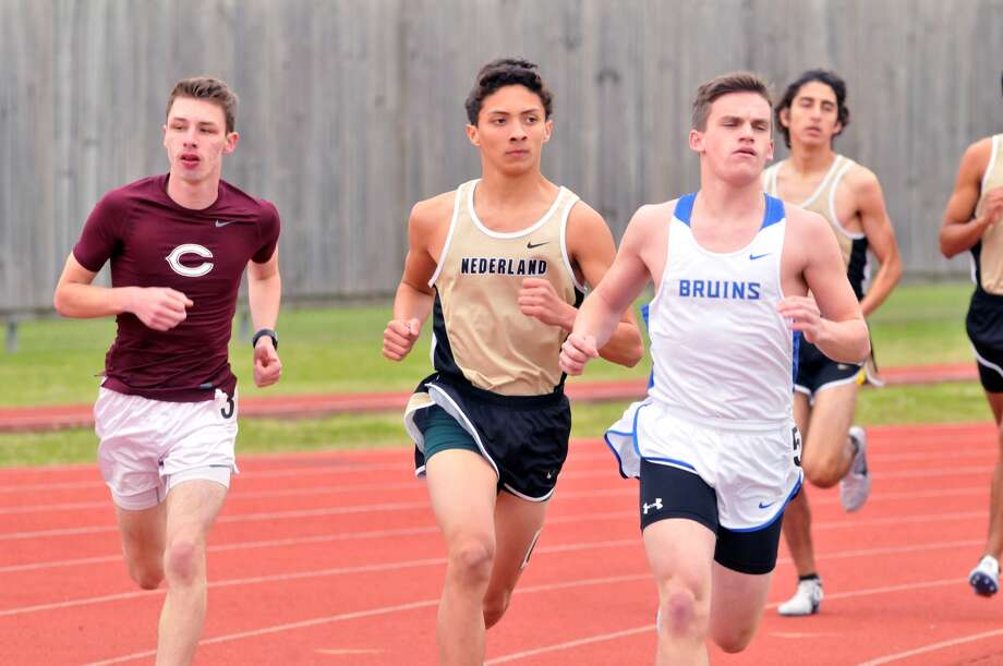 Long-distance runners compete in the 2017 BISD-YMBL Track and Field Invitational last March. Beaumont ISD and the YMBL are discontinuing the annual high school track and field invitational meet, which would have been in its 31st year this March. (Mike Tobias/The Enterprise)