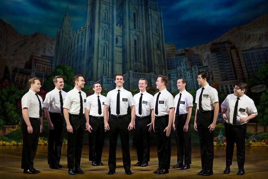 "The company of ""The Book of Mormon"" at SHN. Photo: Julieta Cervantes, SHN"