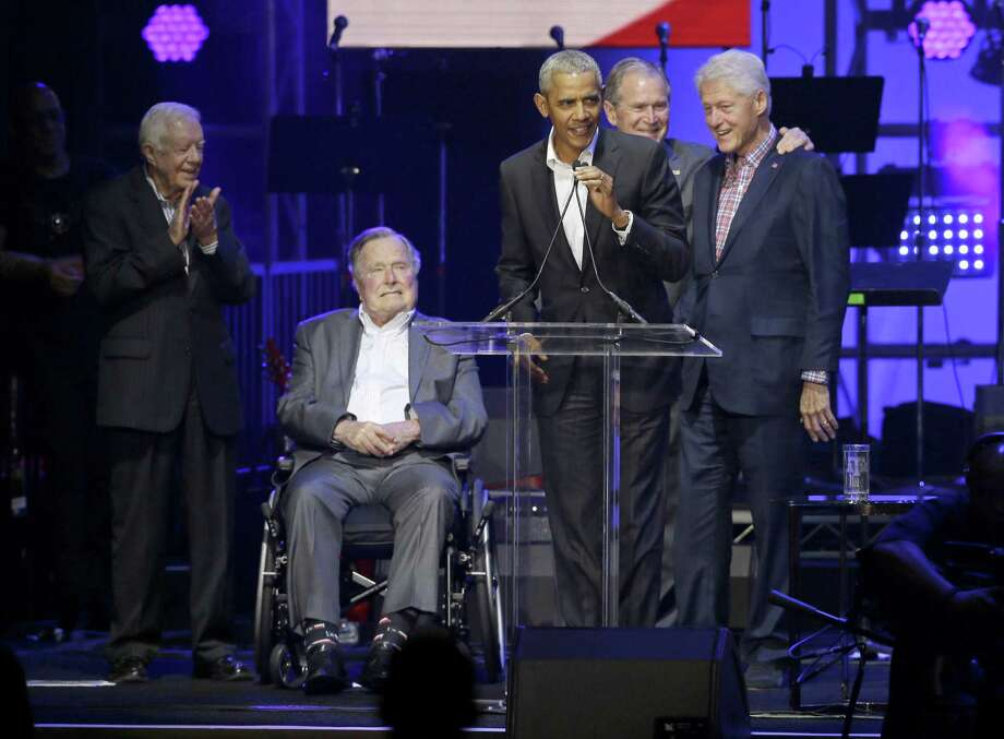 Hurricane relief efforts by former US presidents raises $41M