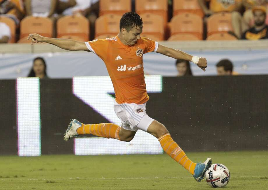 Erick Torres' next goal will come with Mexican club Pumas UNAM after his transfer from the Dynamo this week. Photo: Yi-Chin Lee/Houston Chronicle
