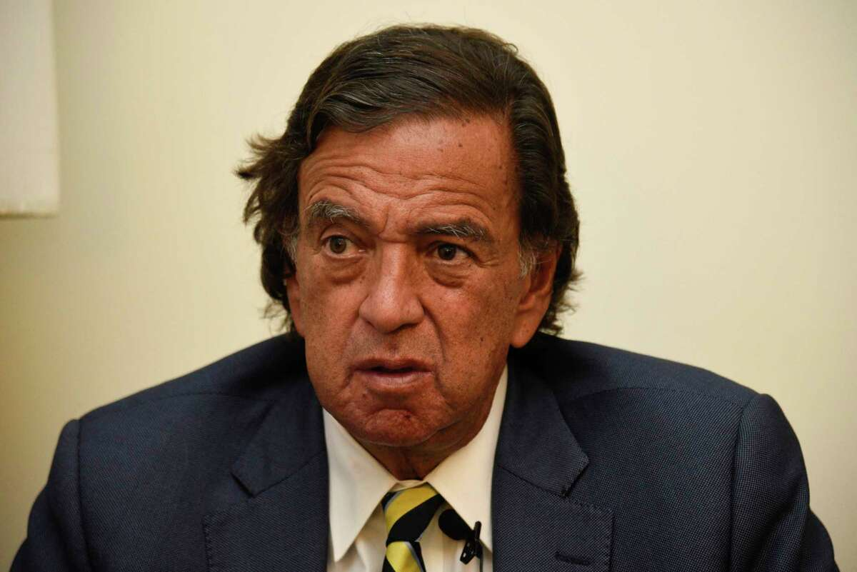 During an interview with the Associated Press, Former New Mexico Gov. Bill Richardson said he has resigned from an advisory panel trying to tackle the massive Rohingya refugee crisis, Wednesday, Jan. 24, 2018, in Yangon, Myanmar. Richardson said the attempt to repatriate the refugees was a Â?
