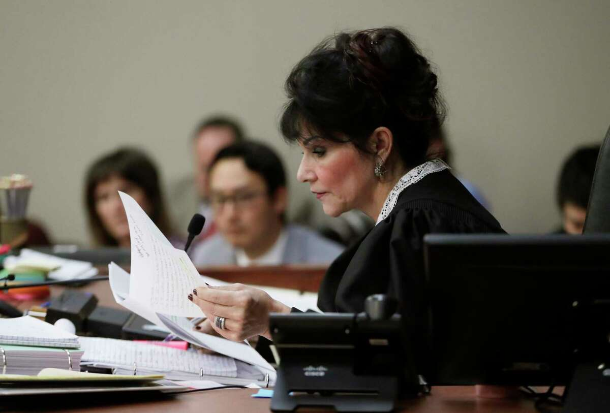 """Judge Rosemarie Aquilina reads a letter by Nassar to the court in which he wrote, """"Hell hath no fury like a woman scorned."""""""